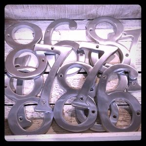 Large cast metal numbers 6,7,8